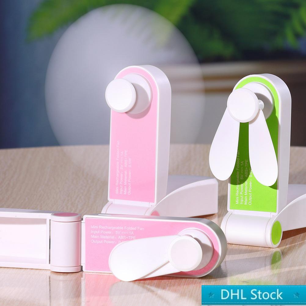 DHL Stok USB Mini Katlama Fanlar Elektrik Taşınabilir Tut Küçük Hayranları Özgünlük Küçük Elektrikli Ev Aletleri Masaüstü Elektrik Fan