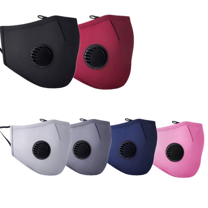 Alta calidad para la máscara unisex color puro PM2.5 de protección contra el polvo de algodón Cara Boca con la válvula