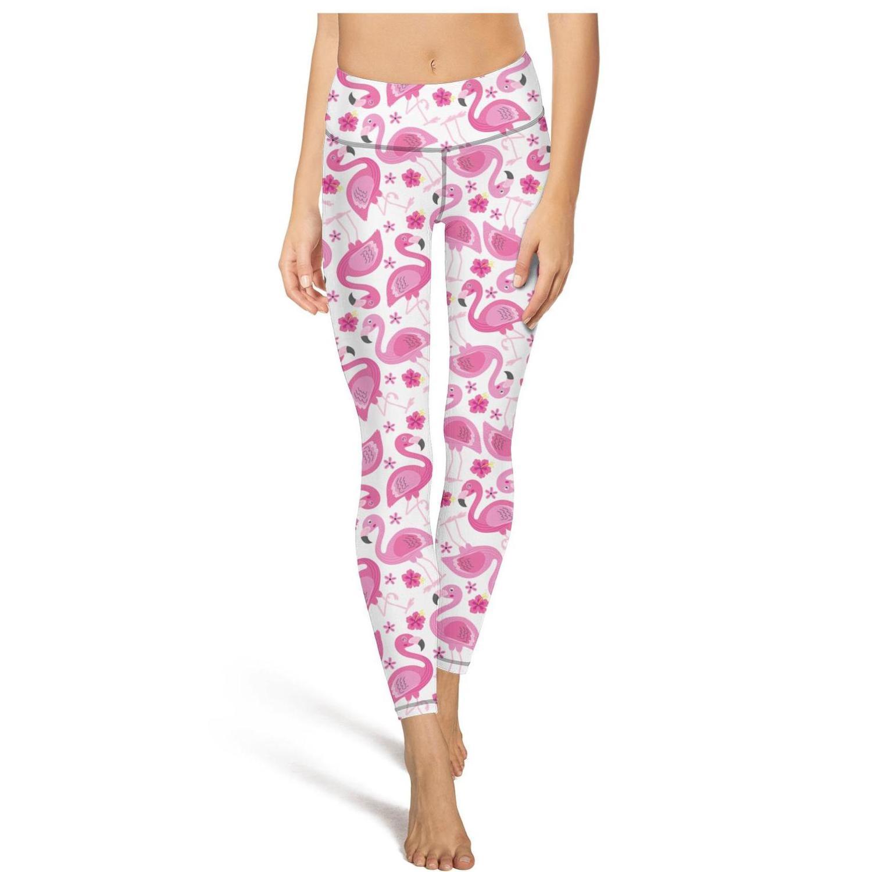 Pink Flamingo Geschenk Gelb PrintFashion Damen Individuelle Yoga Pants Taschen beiläufige feste geeignet für Trainings-Print Blumen-Schwarz-Weiß Palm