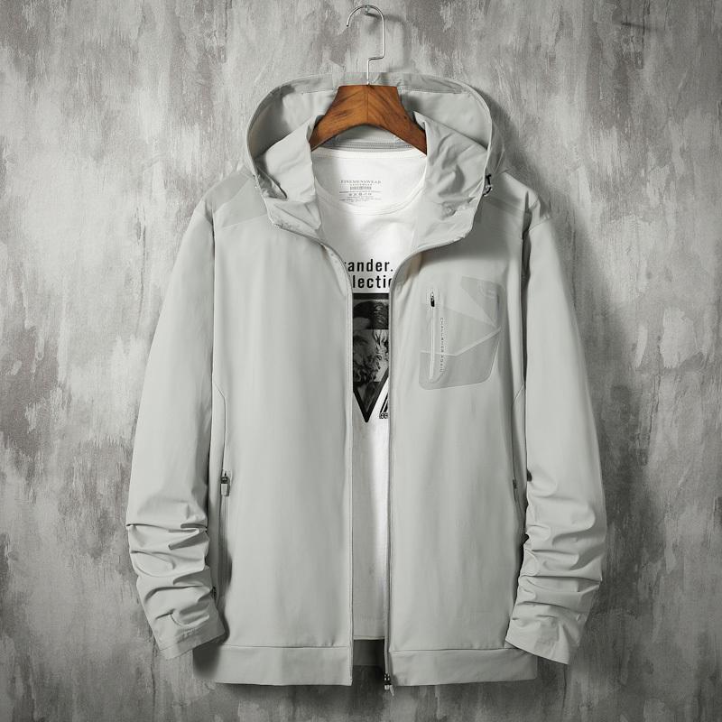 BIG más tamaño 8XL 7XL 2020 hombres nueva chaqueta de primavera de impresión con capucha de la chaqueta de camuflaje cazadora de moda chaqueta informal