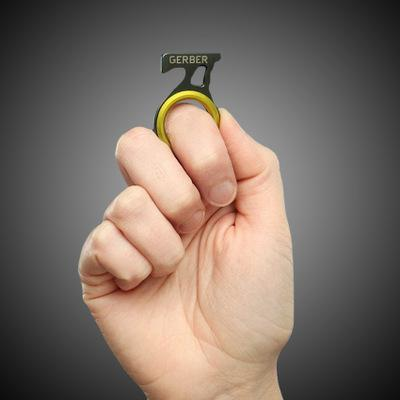 Envío libre caliente al aire libre de un solo dedo agudo cuchillo cortador Cordel Cuerda del corte del cuchillo de gancho EDC coche Gadget de rescate de emergencia Herramientas camping