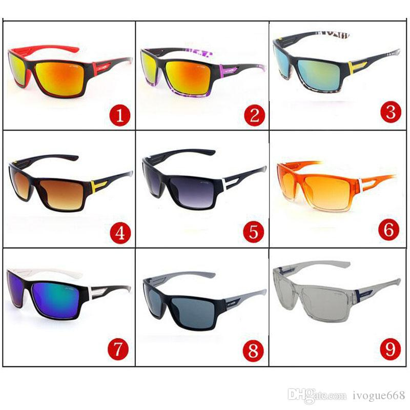 Brand Summer Men Bicycle Glass UV400 Protection Outdoor Sports Sunglasses with Classic 9 Colors Unisex Fashion Driving Sunglasses