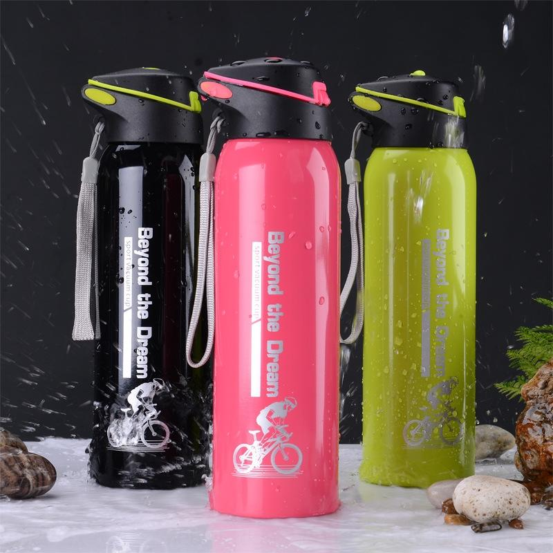 GSplF Kettle with straw baby male Thermos water and female students baby large capacity Portable leak-proof water Cup children's thermos cup
