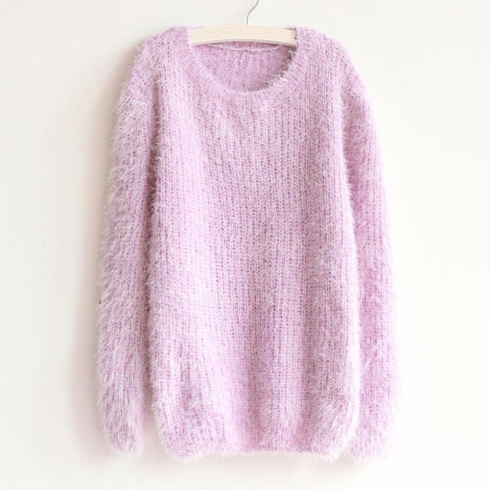 Mujeres del diseñador de la mujer suéter suéteres Nuevos 2019 Tops Moda Otoño Invierno suéter de las mujeres O cuello jersey de punto jersey floja ocasional