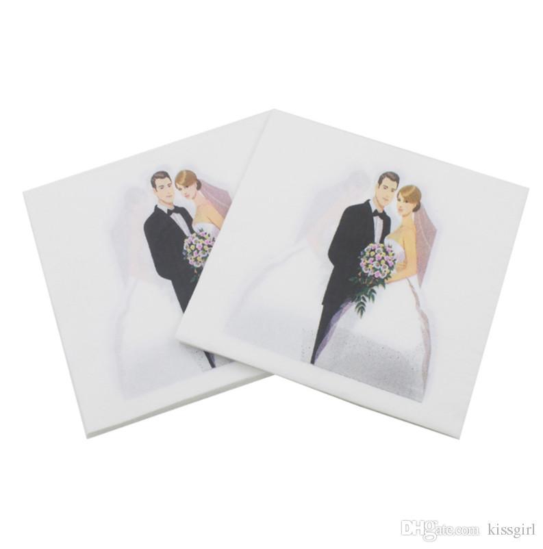 20Pcs 33x33CM Party Paper napkins Wedding Table Clothes decoupage bridal shower Tissue serviettes Party decor supplies 2019