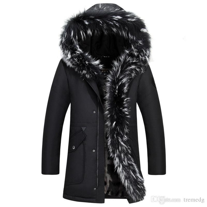 High Quality Men's Winter winter down jacket men coat jacket with fur hood Removable parka men coat masculine down jacket Plus Size 4XL 5XL