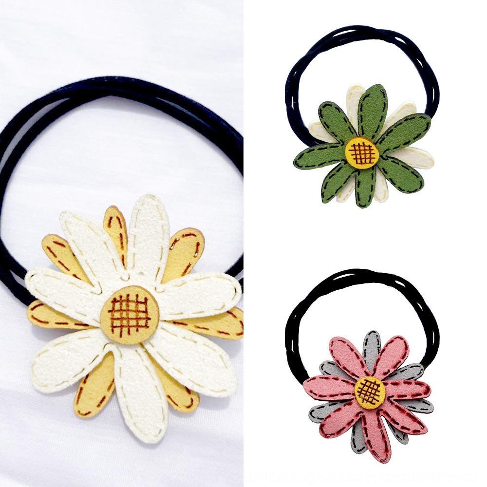 Piccola margherita fiore testa pantaloni a vita bassa corda fiore capelli ins accessori per capelli dei bambini