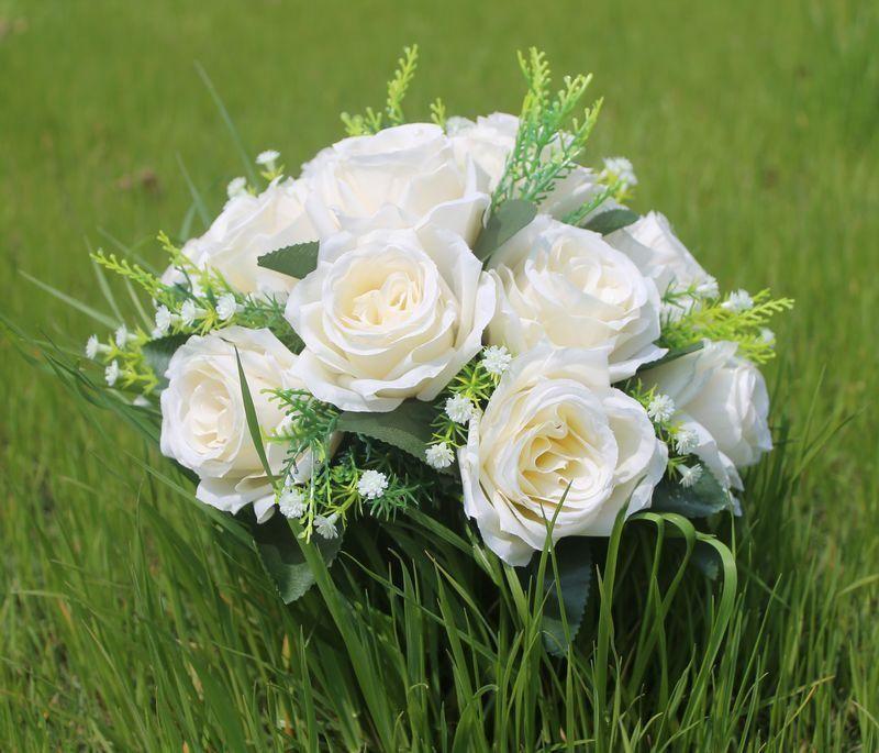 15 цветочных головок искусственный цветок для свадебного бала для стола центральные украшения дорога ведет домашнее украшение