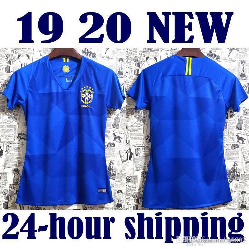 Camisa 드 풋볼 브라질 블루 축구 유니폼 코파 아메리카 2019 브라질 camiseta COUTINHO FIRMINO 예수 축구 셔츠 여성 유니폼