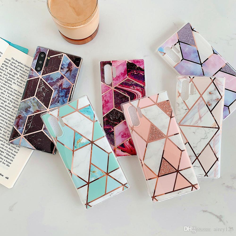 Luxury Mosaic Cover Phone Plating Marble Case for Samsung Galaxy A51 A71 5G A31 S10 Plus S20 FE Ultra Note 10/20 Ultra