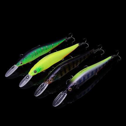 Tsurinoya 4Pcs/Lot Dw50 Suspend Minnow 110Mm Jerk Bait 14.7G Ripbait Fishing Lure Artificial Fishing Bait Tackle Jig Fish Lures