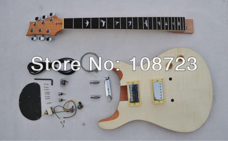 MPR01 - DIY의 기타 사용자 정의 미완성 일렉트릭 기타 - 기타 제작자 빌더 키트 - 플레임 메이플 탑