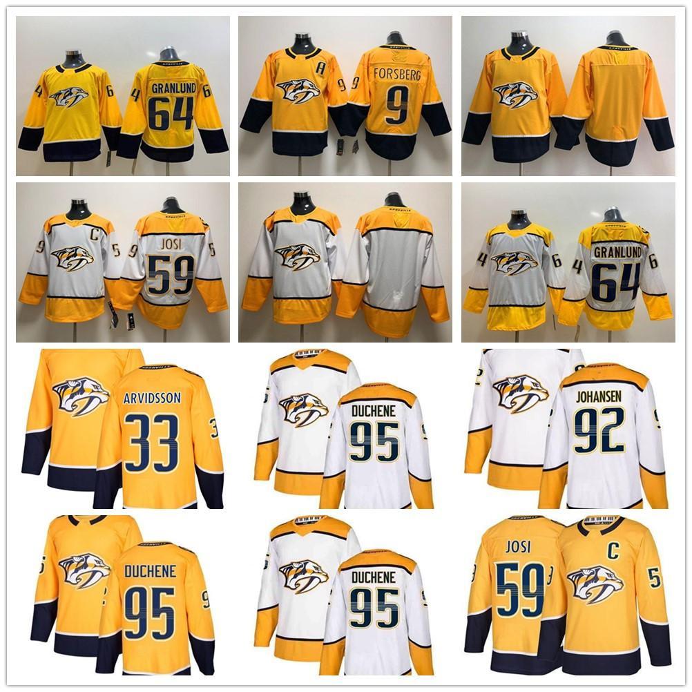 Nashville Predators Jersey 95 Matt Duchene 59 Roman Josi 92 Ryan Johansen 9 Filip Forsberg 35 Pekka Rinne Hockey Jerseys