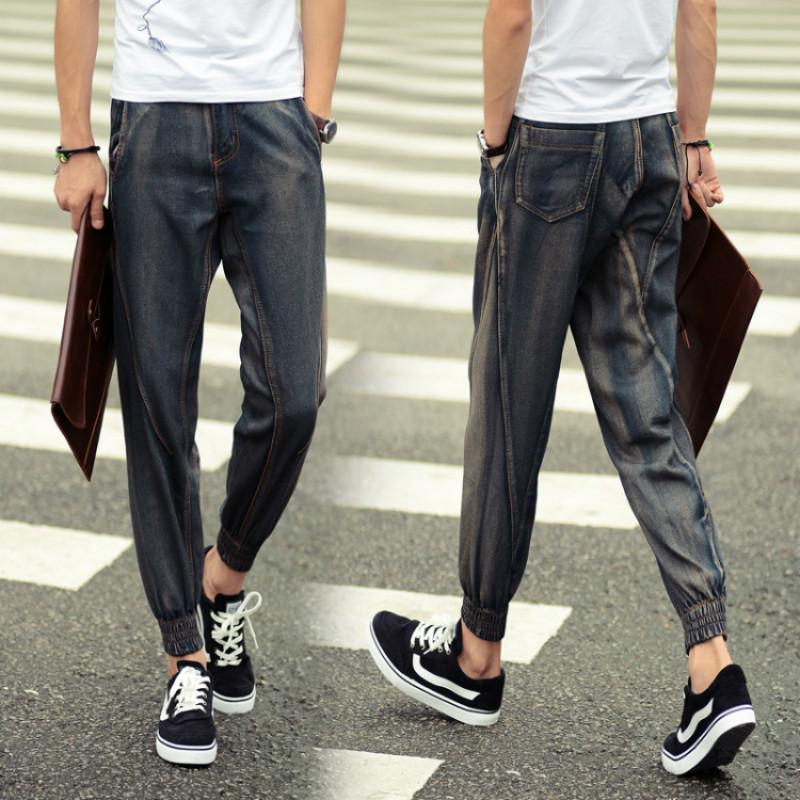 Harem pants Men Denim hip hop jeans calças dos homens Moda High Street Casual Calças Pantalon Homme Mens Corredores Streetwear 5XL