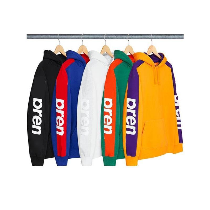 18ss Kutusu Logosu Week5 Sideline Kapşonlu Sweatshirt Erkek Kadın Mektup Baskılı Çift Kıyafet Moda Rahat Sokak Dış Giyim Katı Hoodies