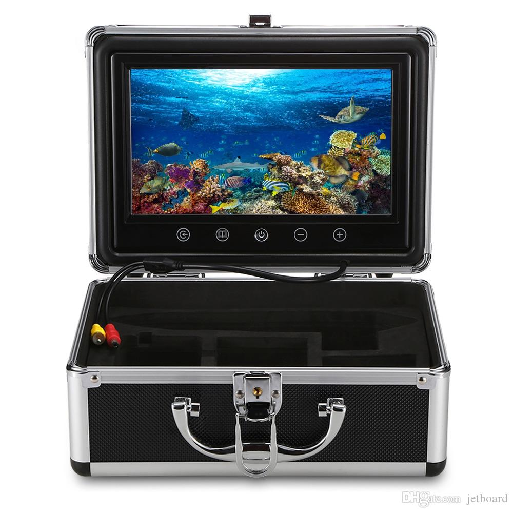 Monitor de 9 pulgadas 15M 1000TVL Fish Finder Cámara de pesca submarina 30pcs LED