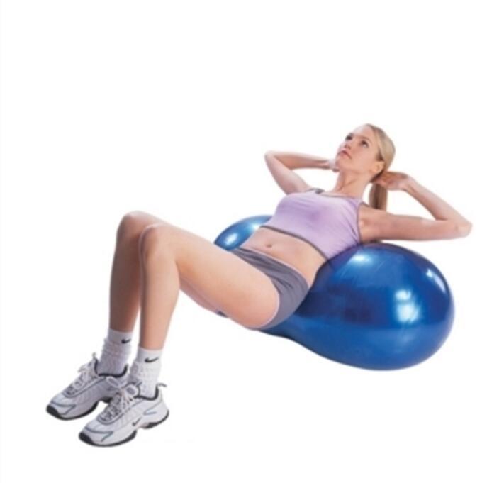 Casa de fitness Bola de Amendoim À Prova de Explosão Exercício de Yoga Bolas de Ginástica Saúde Esportes Ginásio Durável Peanuts Bola Pilates Bolas