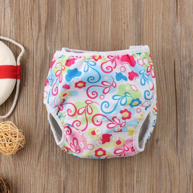 Pudcoco Infant bambino pannolini di stoffa Nuoto estate del fumetto sveglio del pannolino regolabile impermeabile per Swimwear del bambino Shorts Accessori