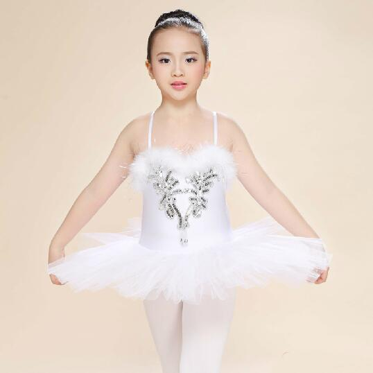 무대 착용 백인 어린이 백조 호수 의상 키즈 발레 댄스 전문 투투 드레스