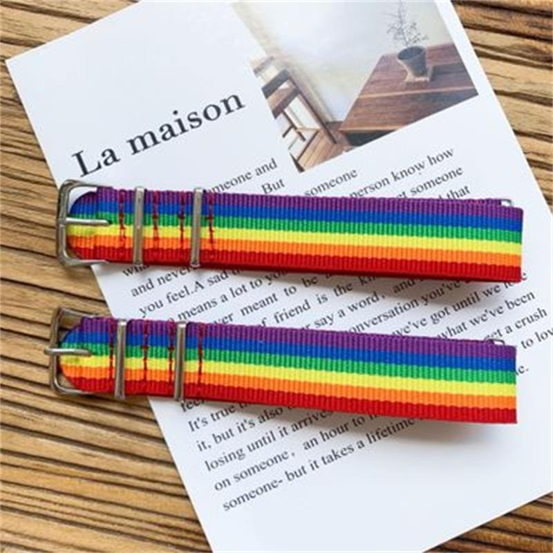 Rainbow Color Bracelets Metal Buckle Dazzle Wristband Party Disco Dancing For Couples Gift Sold Well Birthday Party Supply 4msH1