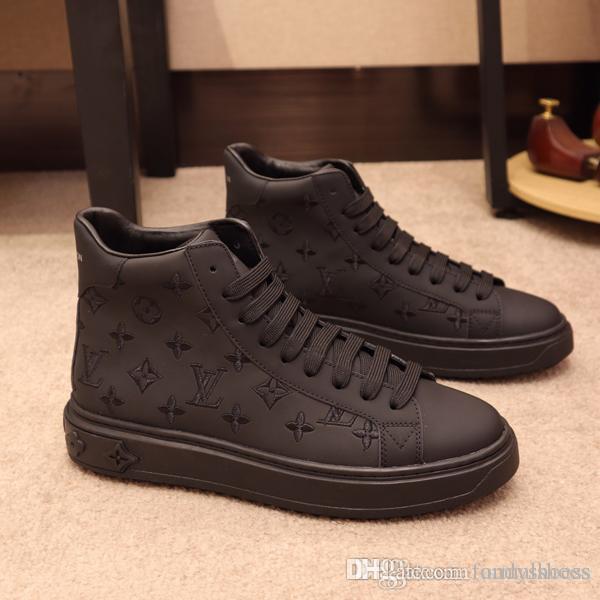 Allenatore sportivo di alta qualità Nuovo caviglia stivali da uomo scarpe da uomo-High Top Sneakers casual Coach Tigre Drago Serpente Inverno Running