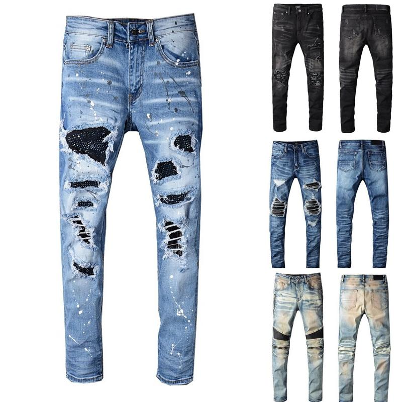Mens Designer Pants New Style Casual Skinny Sweatpants Mens Designer Jeans Drop Crotch Jogging Pants Mens Jeans
