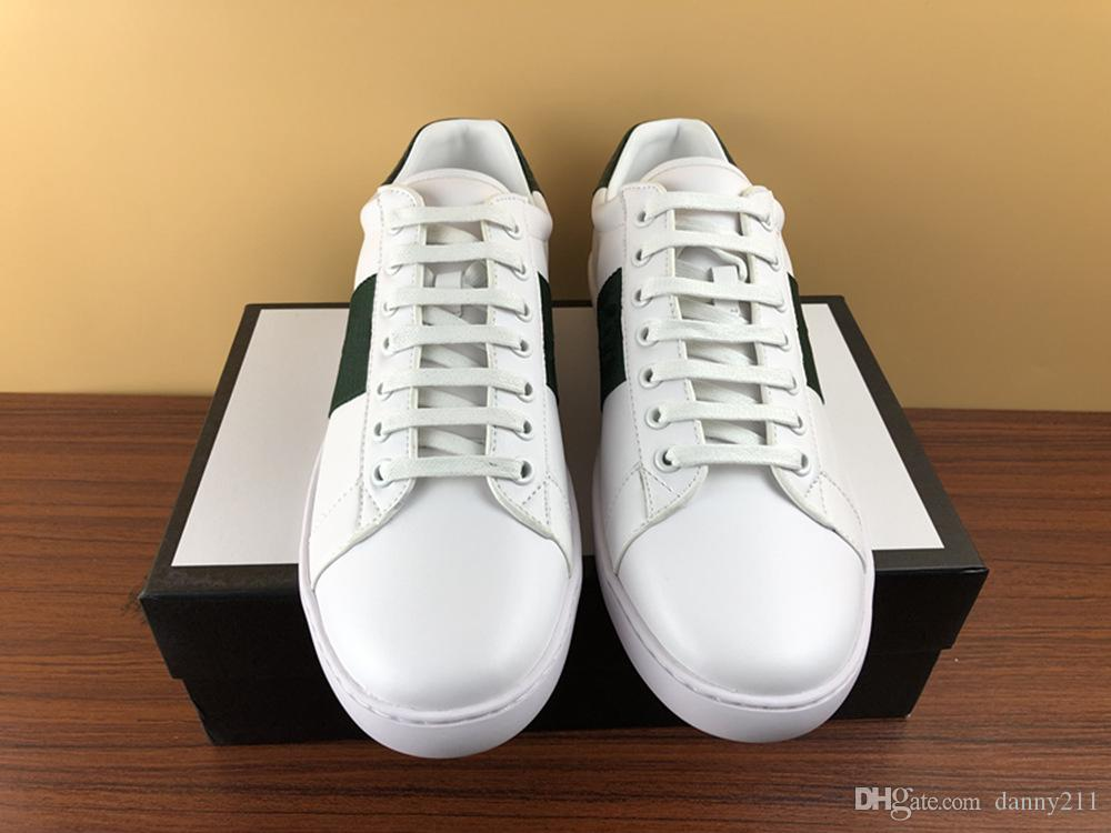 2019 French summer casual lacing white low-top classic breathable leather shoes, fashionable and comfortable, size 35-46 for men and women