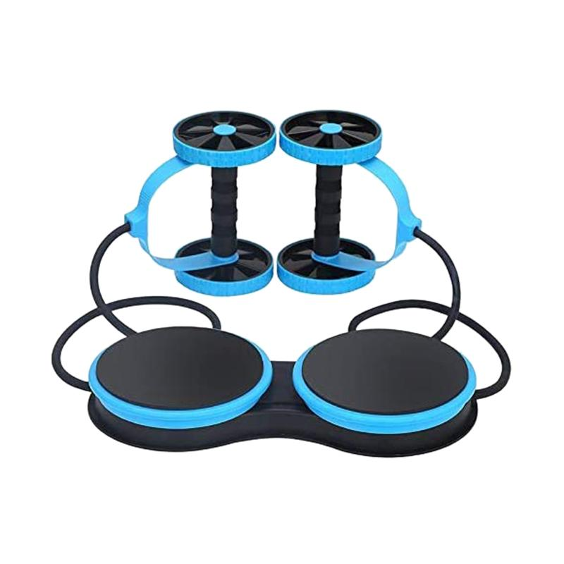 Fitness Multi-Functional Muscle Exercise Equipment Home Gym Wheel Double Belly Aben AB Roller
