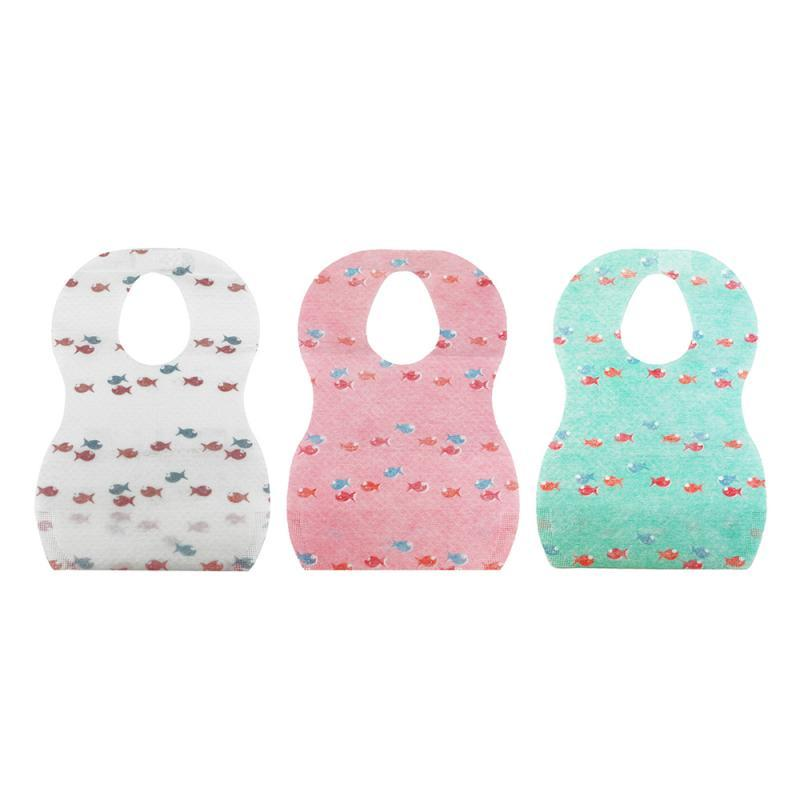 10pcs Bibs Baby Boy Girl Disposable Bib Rice Pocket Print Burp Cloths Newborn Kids Accessories New 2020 No Need To Wash