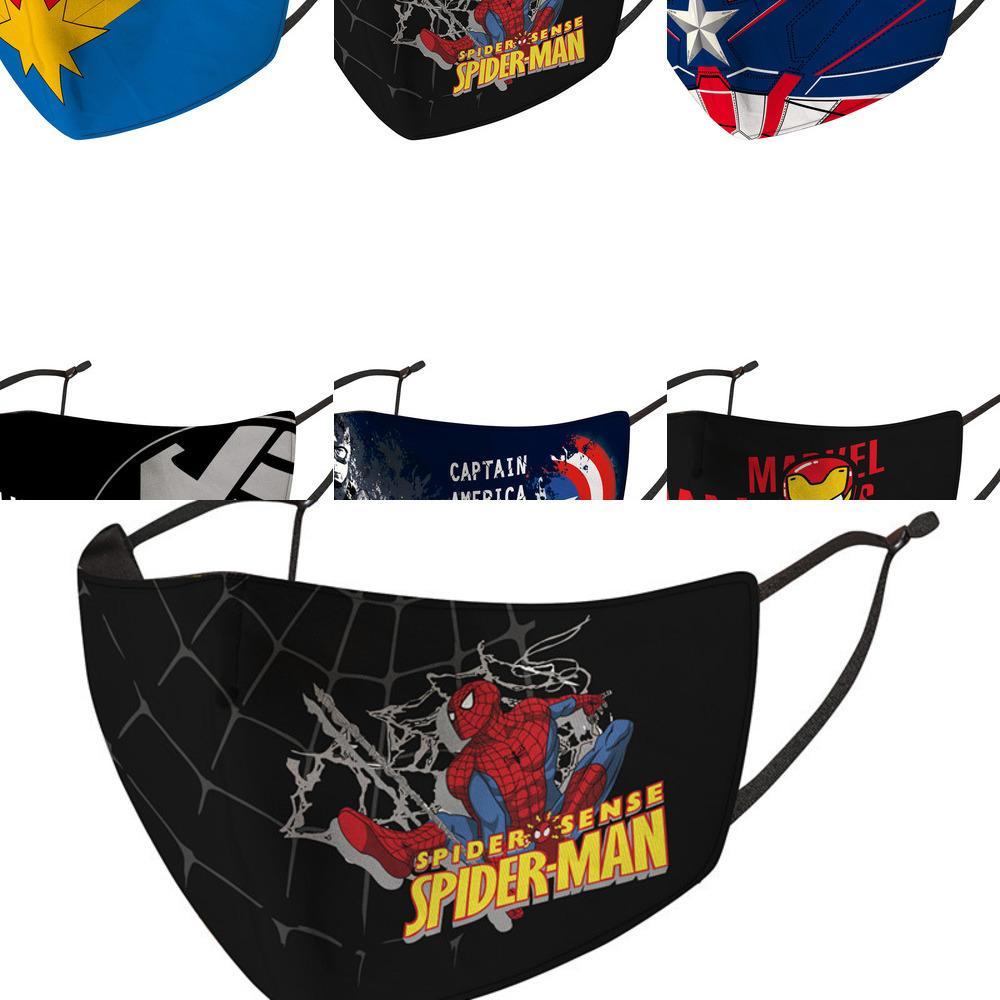 Spider-man Máscara de Crianças Ice Silk desenhos animados Capitão América Dustproof Antifouling Primavera e Verão B26X