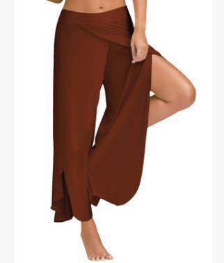 das mulheres Designer Yoga Calças Exercício FitnessIn A cintura solta perna larga Trackpants Rua Cintura No Pants fenda Sexy aptidão Sweatpants