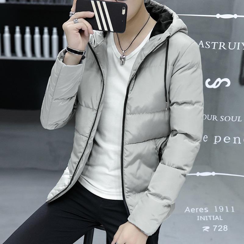 Inverno HOMENS de roupas de algodão Coreano de estilo Youth Casual Grosso Slim Fit algodão acolchoado roupas de algodão acolchoado revestimento do revestimento Tamanho Grande