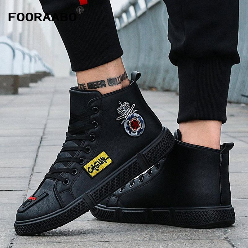 2018 New Winter Print Mens Casual Shoes