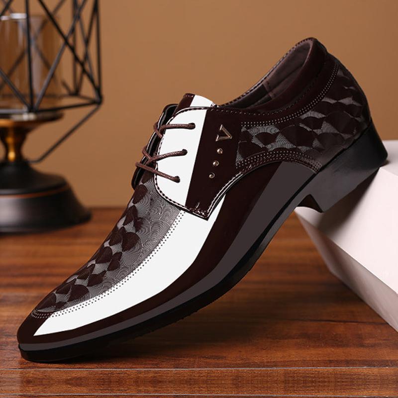 أحذية جلدية أوكسفورد رجال ربط الحذاء حتى تنفس الرسمي لمكتب الرجل الكبير الحجم 38-48 شقق اللباس أحذية رجالية عادية