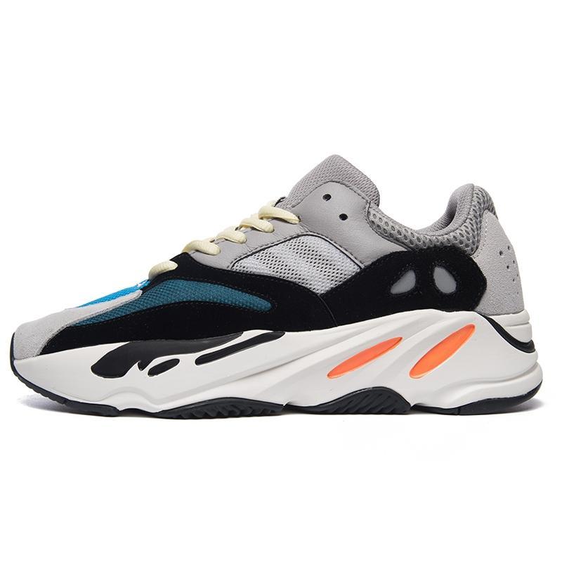 Kutu Yeni 700 Dalga Runner Leylak Atalet Erkek Ayakkabı Kanye West Tasarımcı ayakkabı erkekler Kadınlar 700 V2 Statik Spor Seankers Boyut 36-458321 # QA935 ile