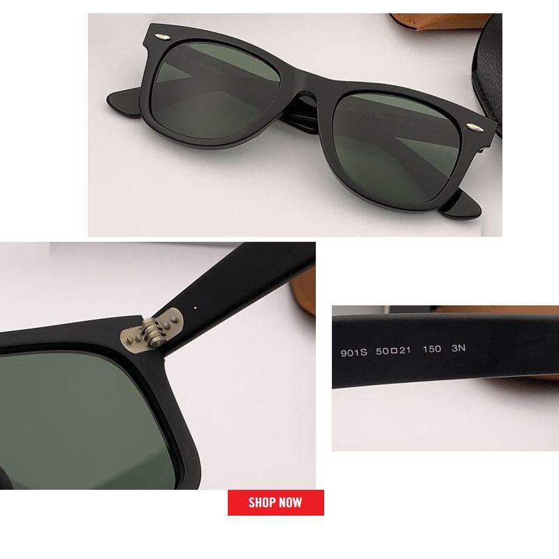 أعلى جودة الجملة ساحة نظارات الرجال خلات النظارات النساء uv400 عدسة زجاجية بارد النظارات 54 ملليمتر 50 ملليمتر حجم gafas