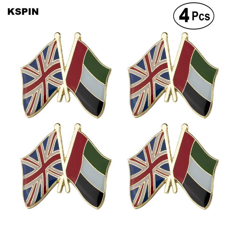 Великобритания U. A. E Дружба флаг булавка лацкан булавка значок брошь значки 4шт