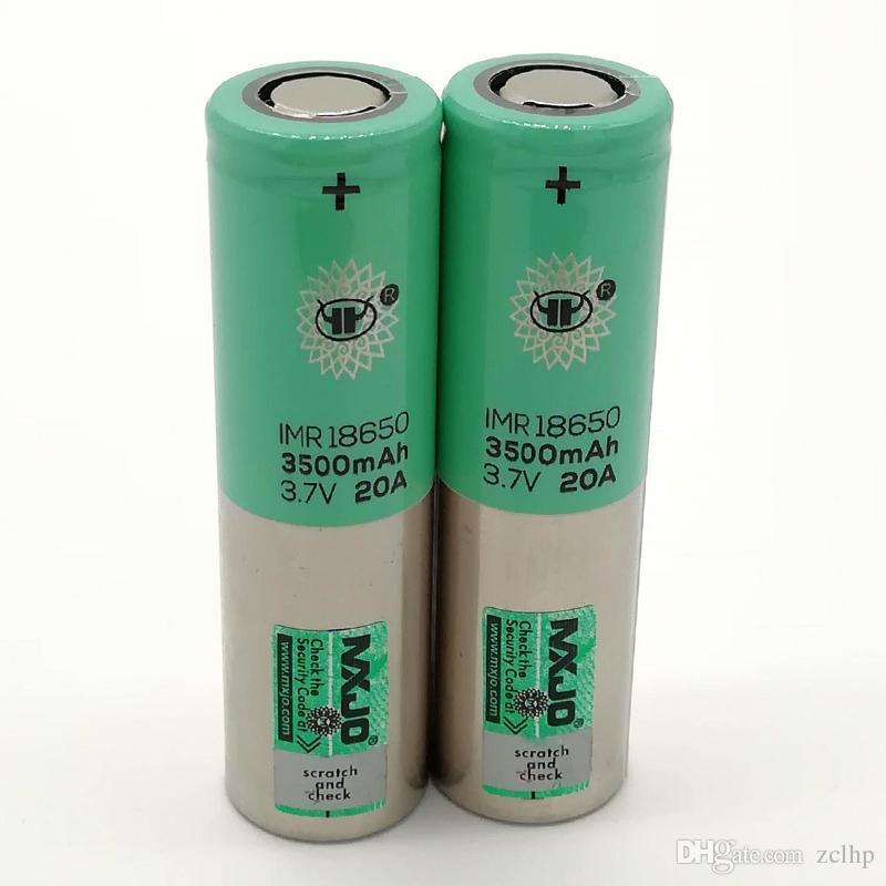 100% alta qualidade Mxjo IMR 20A 18650 bateria 3500mAh 3.7 V baterias recarregáveis de lítio Fedex Frete