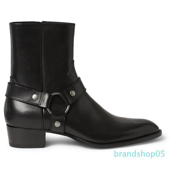 Erkekler için Toptan-Tozlu Tarçın Tan Süet Biker Boots Süet Deri Bilek Erkek Çizme Menace Eril Fermuar Up Düşük Topuk Zapatos Ayakkabı