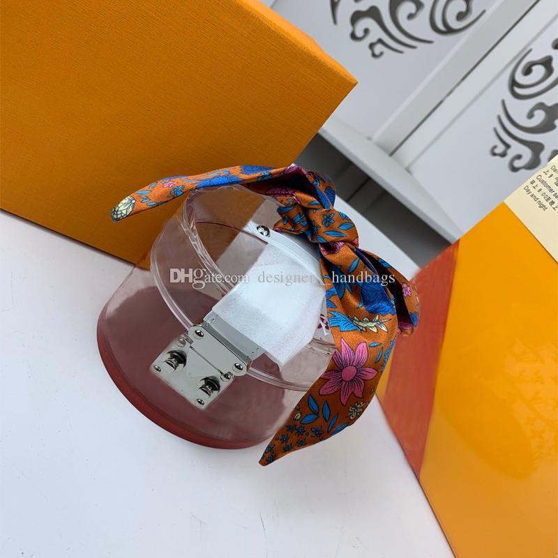 Bolsas de cosméticos de la vendimia floral orgánico del material de cristal Señora pequeñas cajas cinta aleatoria de las señoras bolsos de mano de envío
