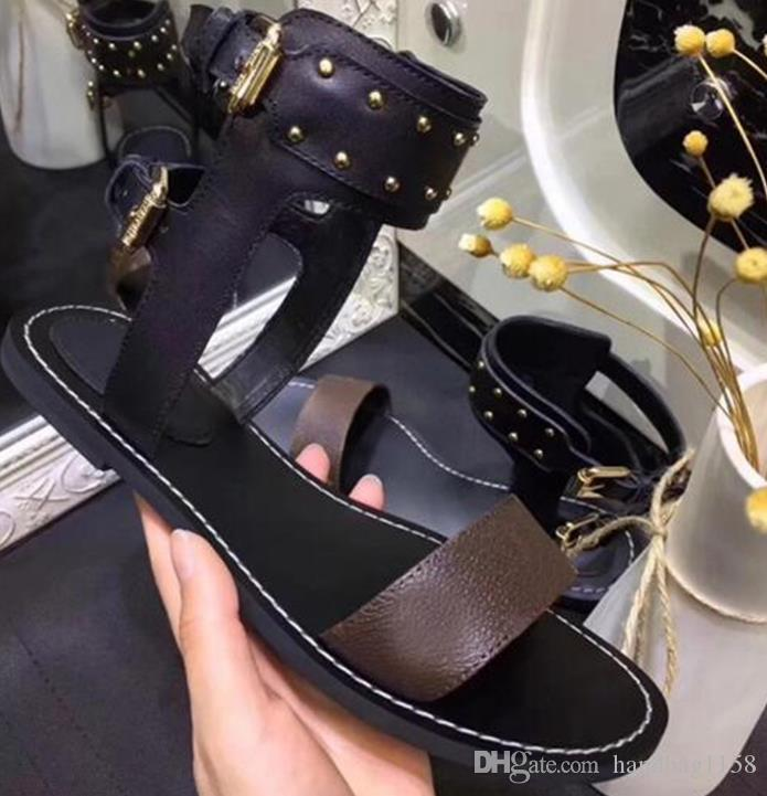 Yolcu Horizon Kadın Lüks Tasarımcı Siluet Elbise Sandalet Üçlü Siyah Kahverengi Deri Bayanlar Yaz Düz Casual Terlik Moda Slayt