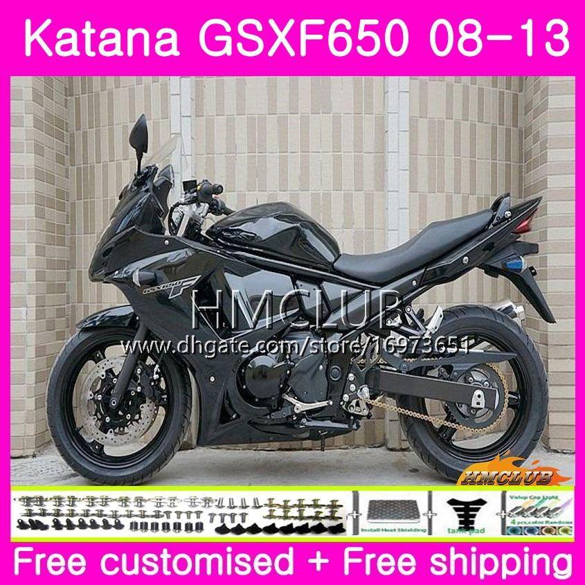 Kit For SUZUKI KATANA GSX650F GSXF 650 GSXF-650 08 09 10 11 12 13 14 14HM.70 GSXF650 2008 2009 2010 2011 2012 2013 2014 Fairing ALL Black