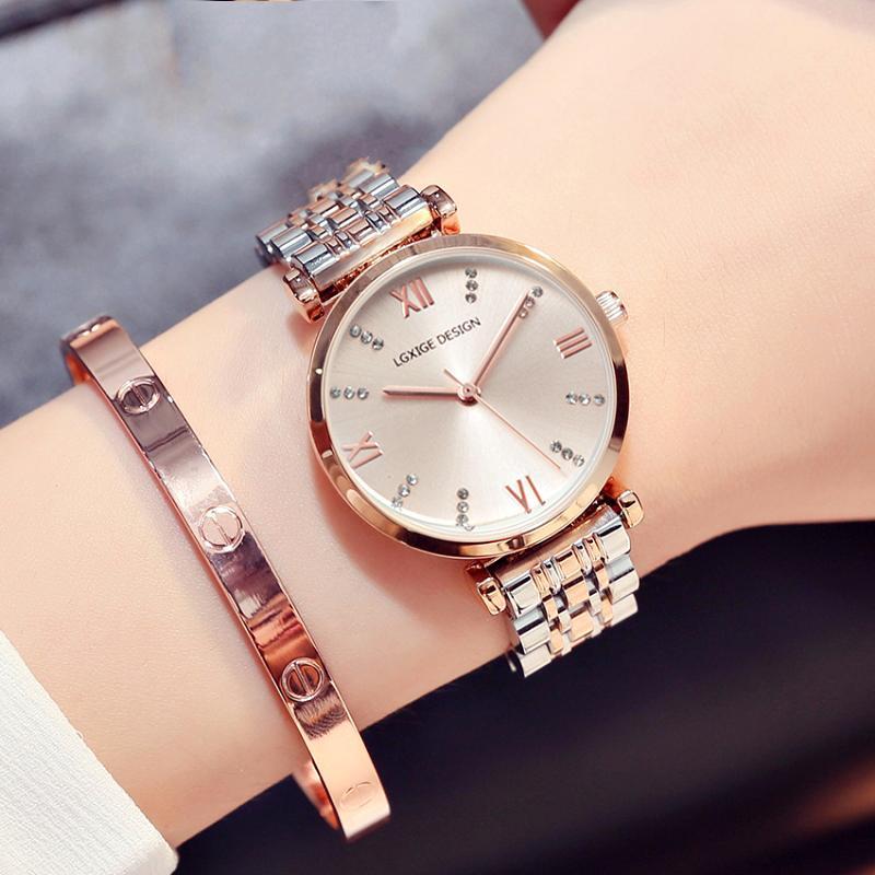 montre femme zegarek damski için sıcak Basit Saatler Kadınlar çelik Moda İzle Elmas Casual Bayanlar Bilek İzle 2018 Quartz Saat