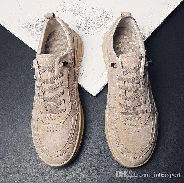 2020 Fashion men casual shoes white wheat khaki designer shoes outdoor jogging flate skateboarding shoes mens trainers