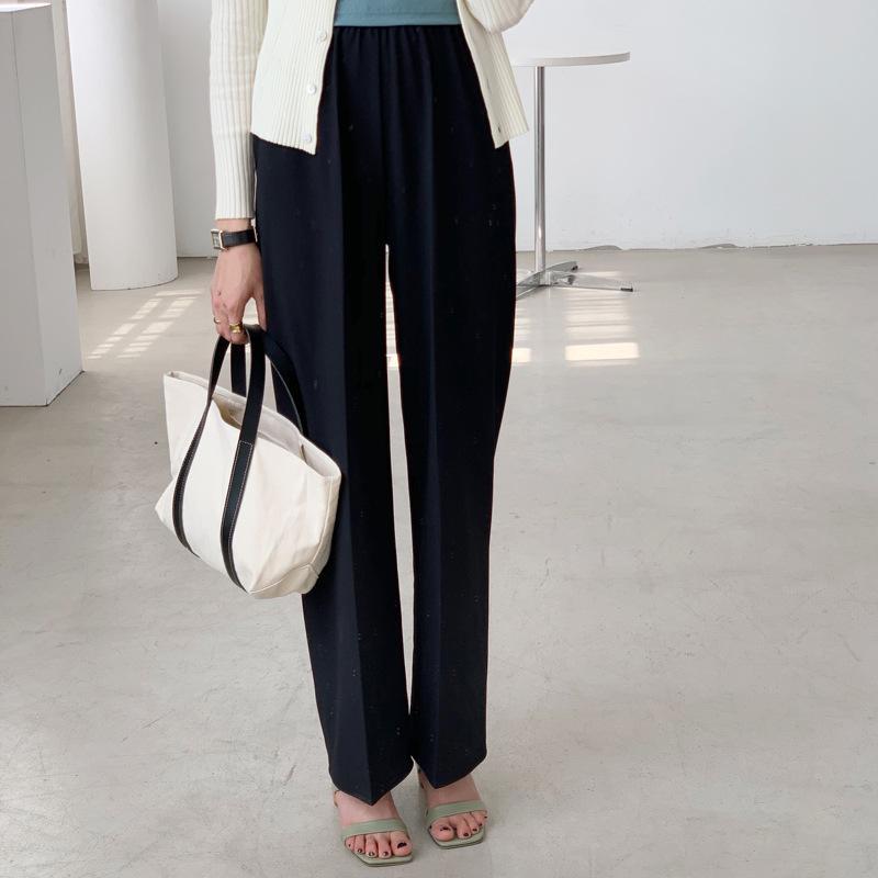 Mezzo elastico pantaloni tuta gamba larga versione 2020 primavera coreana allentati pantaloni casuali diritti MY502 femminile