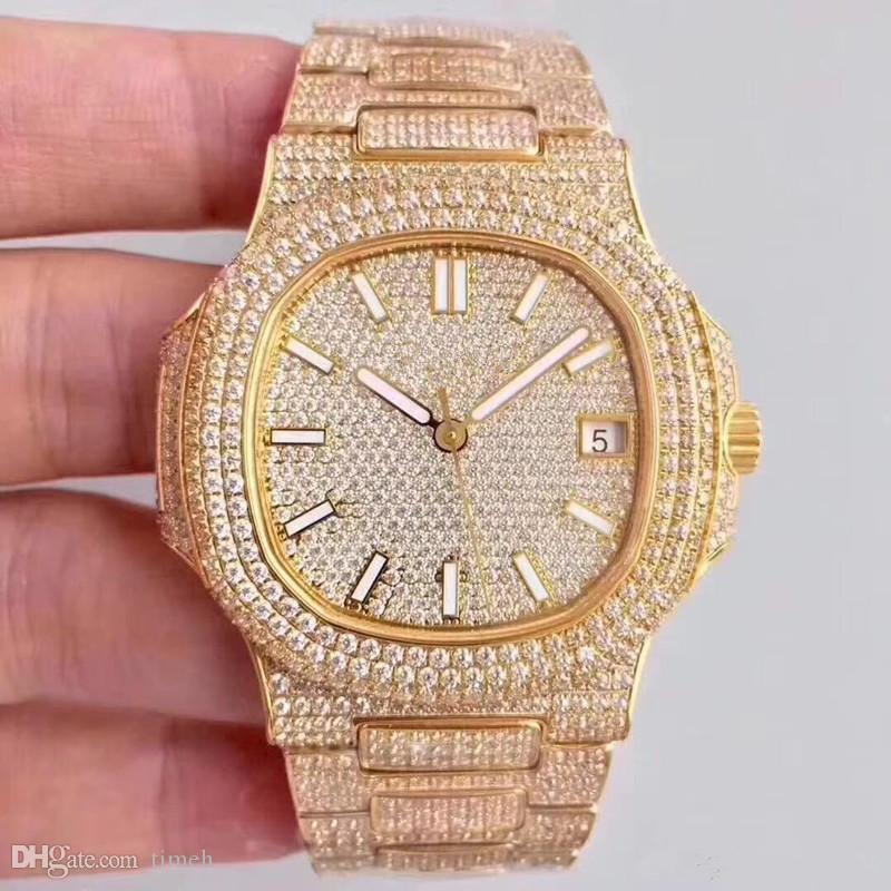Новый высококачественный 316 механизм 40 дизайнерские часы Часы Часы автоматическое оборудование алмазные часы набор шнек