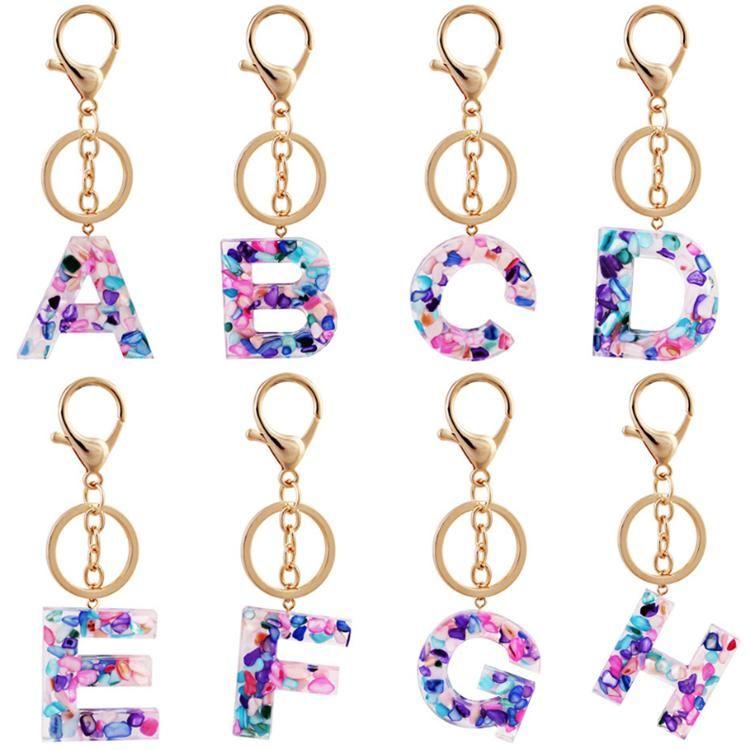 26 Brief Schlüsselanhänger Alphabet Schlüsselanhänger Kette Armband Schlüsselanhänger Handschlaufe KeyOrganizer Halter Cartoon Zubehör