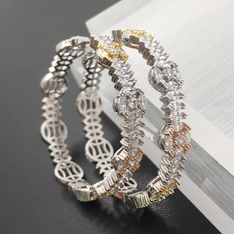 Lanyika Fashion Jewelry Изысканные Яркие Большие Ушные Петли Микро Позолоченные Свадебные Серьги На День Рождения Стильный Свадебный Ежедневный Лучший Подарок