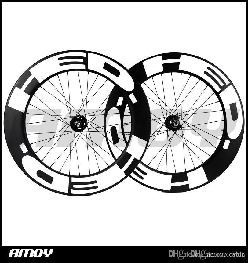 HED 페인트 88mm 깊이 폭 무료 배송 25mm 기어 탄소를 고정 바퀴 전체 탄소 700C 도로 트랙 자전거 자전거 바퀴