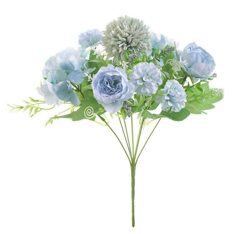 الزهرة الاصطناعية ، وهمية الفاوانيا الحرير Hydrangea باقة الديكور البلاستيكي القرنفل الزيتي